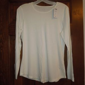Chico's NWT Size 0 Long Sleeve Antique White Top